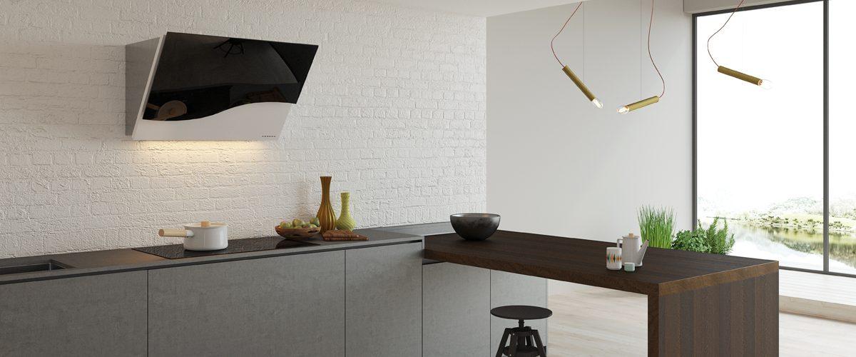 cappa cucina vetro nero